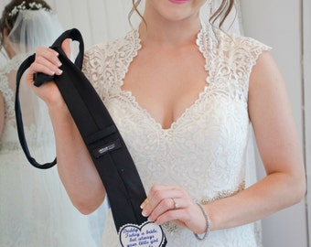 Father of the Bride WEDDING TIE PATCH, Today a Bride But Always Your Little Girl, Iron On Patch, Sew On Patch