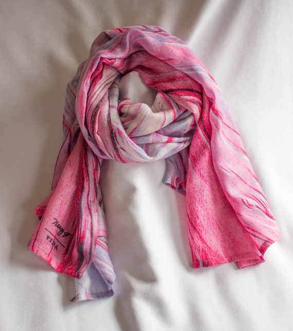 Cashmere Silk Scarf - My Mothers Roses by VIDA VIDA