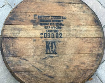 Bourbon Barrel Lid Wall Hanging Gift, authentic bourbon barrel head, for bar, him, dad, him, husband, Jim Beam, Makers Mark