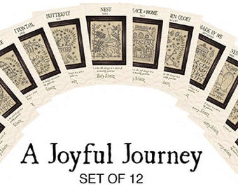 A Joyful Journey - Complete set of 12 Stitchery Patterns by Kathy Schmitz - NEW!!