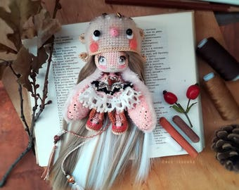 Exclusive BUNNY - DOLL. Textile doll. Collection doll. Handmade doll. Art doll. Gift. Авторская кукла. Подарок. Doll. Кукла
