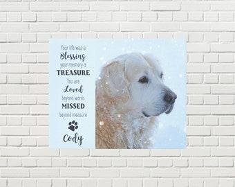 Pet Memorial Canvas 10BTLM - Pet Photo Canvas - Dog Canvas - Pet Memorial - Pet Portrait  - Custom Photo Canvas - Dog Memorial - Pet Loss