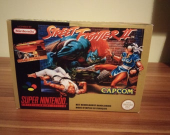 SNES Street Fighter 2  - Replacement Box and Insert No Game Included