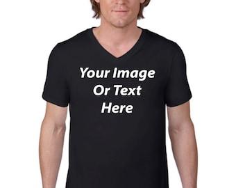 Customized Mens V-Neck T-Shirt