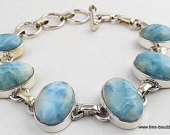 BRACELET jewelry LARIMAR jewelry natural stone bracelet, larimar, da25.5