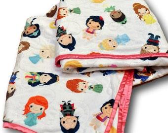 Princess Quilt * Princess Blanket * Princess Nursery * Princess Crib * Princess Decor * Princess Baby Gift * Princess Baby Quilt