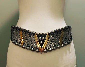 Vintage 80's Metal & Leather Belt / by José Cotel