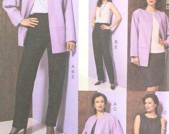 Misses Jacket Pattern Vogue 7629 Misses Top Dress Skirt and Jacket Pattern Misses Size 8 10 12 Easy 5 Piece Vogue Pattern