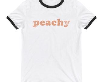 Peachy Ringer T-Shirt