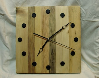 12 Inch Reclaimed Wood Wall Clock