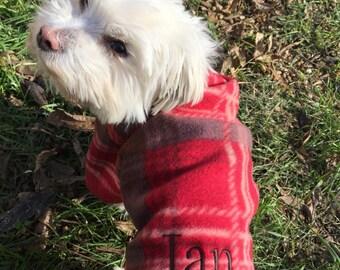 Custom Dog Jacket,  Personalized Dog Sweater, Puppy Fleece Jacket, Dog Coat, Cute Dog Jacket, , Warm Handmade Pet Clothes,