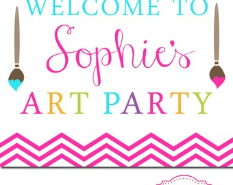 Art Party Sign - Digital File - Printable