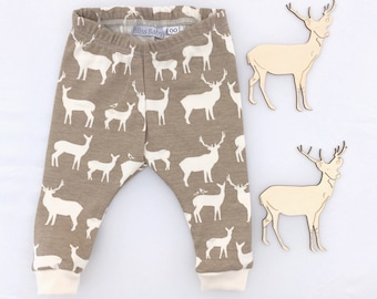Organic cotton baby toddler leggings elk pants