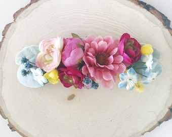 Wildflower crown, flower crown headband