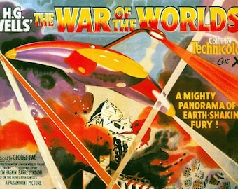 War Of The Worlds Movie Poster  A3/A2/A1 Print
