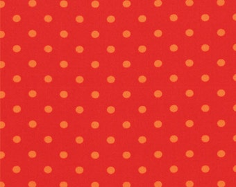 1/4 Yard REMNANT Bloomin' Fresh - Bloomin' Dots in Tulip Red - Cotton Quilt Fabric - by Deb Strain for Moda Fabrics - 19669-13 (W2773)