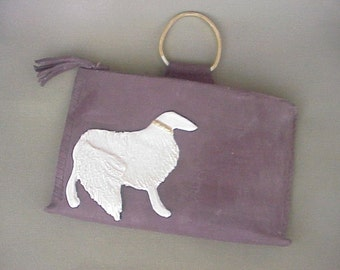 Afghan Suede Porcelain Handbag