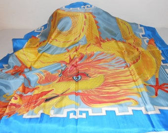 100% natural silk scarf, hand painted