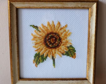 Handmade embroidery art, Floral framed embroidery painting, Home decor