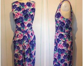 Altered Vintage Floral Print Dress