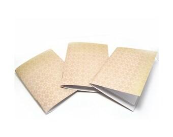 Mini Notebooks, Pocket Notebook, Soft Cover Notebook, Field Journal, Pale Yellow Notebook, Mini Journal, Shabby Notebook, Jotter