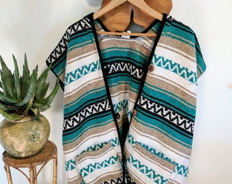 Serape/Falsa Mexican Blanket Jacket