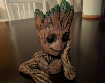 Baby Groot Plant pot planter flower holder. guardians of the galaxy marvel comics.