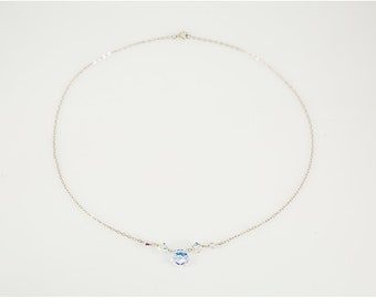Sterling Silver Necklace made with Swarovski Crystals