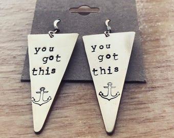 Du hast diesem Silberherz Messing gold Ohrringe