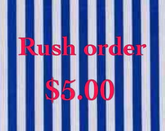 Add to cart to RUSH order production