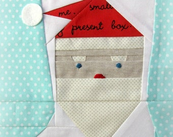 Santa Stocking, a Paper Piecing Pattern