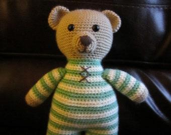 Handmade, Crocheted Bedtime Bear