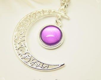 """""""Gealai"""" Celtic Purple Moon glow necklace"""