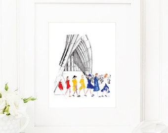 Dion • Fashion Illustration | Glicée Art Print | Wall Art | Fashion Art