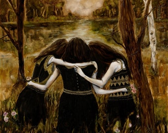 Strength - Giclee Art Print, Large Wall Art, Figurative Art