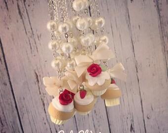 Vanilla Cupcake Necklace -  Collana Cupcake