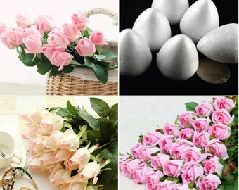 Flower Styrofoam Bulbs, Water Droplets Shape,Sugar Fondant Flowers Tools 20 pcs/bag