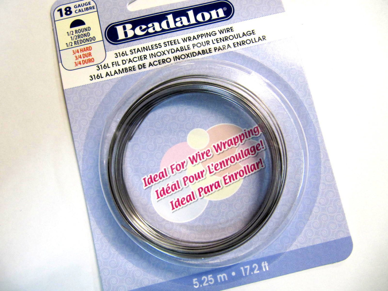 Stainless Steel Wire, Half Round, Wrap Wire, Bedalon, 18 Gauge, Wire ...