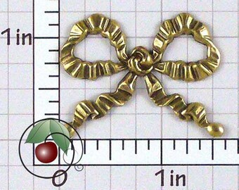 Bow Finding, Bow Stamping, Bow Decoration, Vintage Bow, Bow Embellishment, Antiqued Brass, Brass Ox, 2 Pcs, 1449bo2
