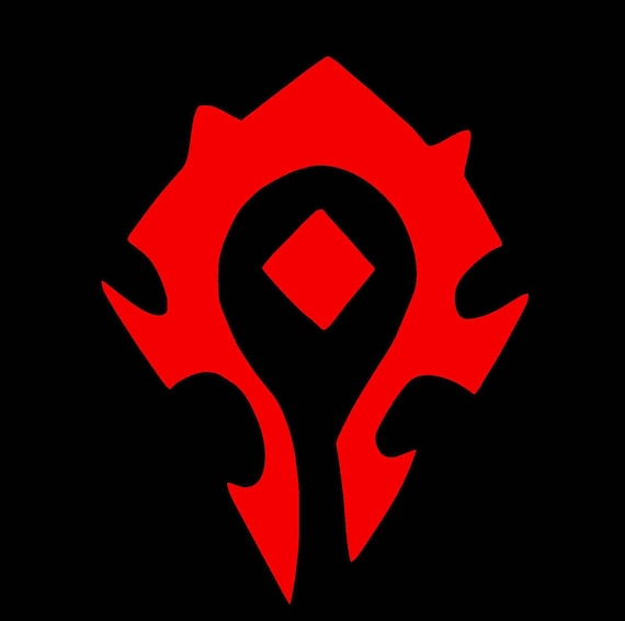 Wow Horde Symbol Decal