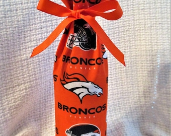 Denver Bronco Orange Bag Bottle Cover for Wine or Sparkling Cider