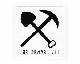 The Gravel Pit - Bumper Sticker - 1990's