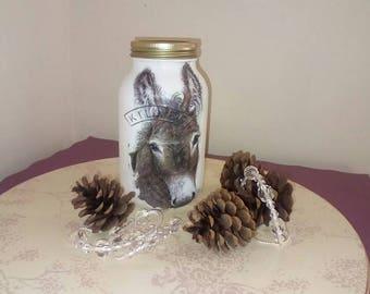 Little donkey jar