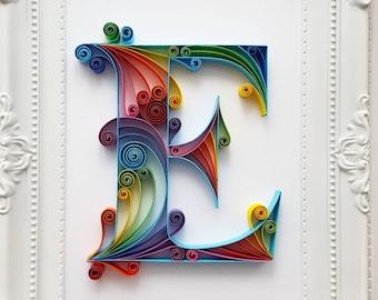 Quilling art etsy quilled paper art monogram altavistaventures Choice Image