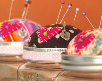 Pin Cushion Jar ~ Collectible
