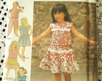 STYLE Kids 2607 Dress or Jumper, Top, Trousers or Pants and Skirt Sewing Pattern Size 3 4 5 6 7 8 NEW UNCUT