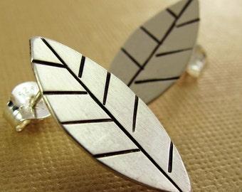 Leaves Earrings - Sterling Silver Posts