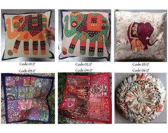 Decorative patchwork cushion / pillow / Bohemian outdoor cushions / pillows decoration / 40.6 40.6 cm x