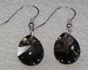Earrings Black Crystal