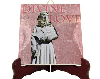 Religious gifts - Blessed Julian of Norwich - christian icons on ceramic tile, christian gifts, catholic saints, holy icons, anglican saints